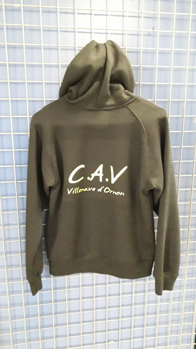 Sweat capuche sans fermeture verso